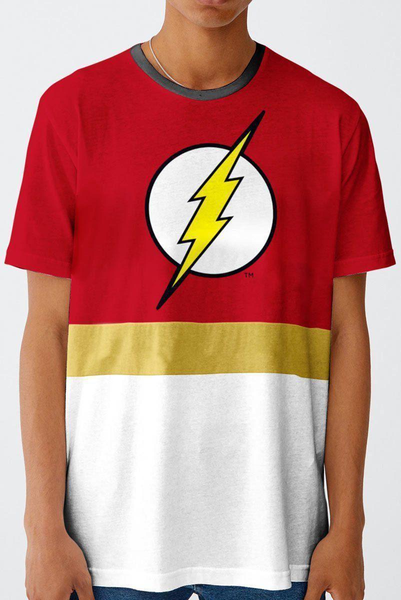 Camiseta Masculina The Flash Stripe  - bandUP Store Marketplace