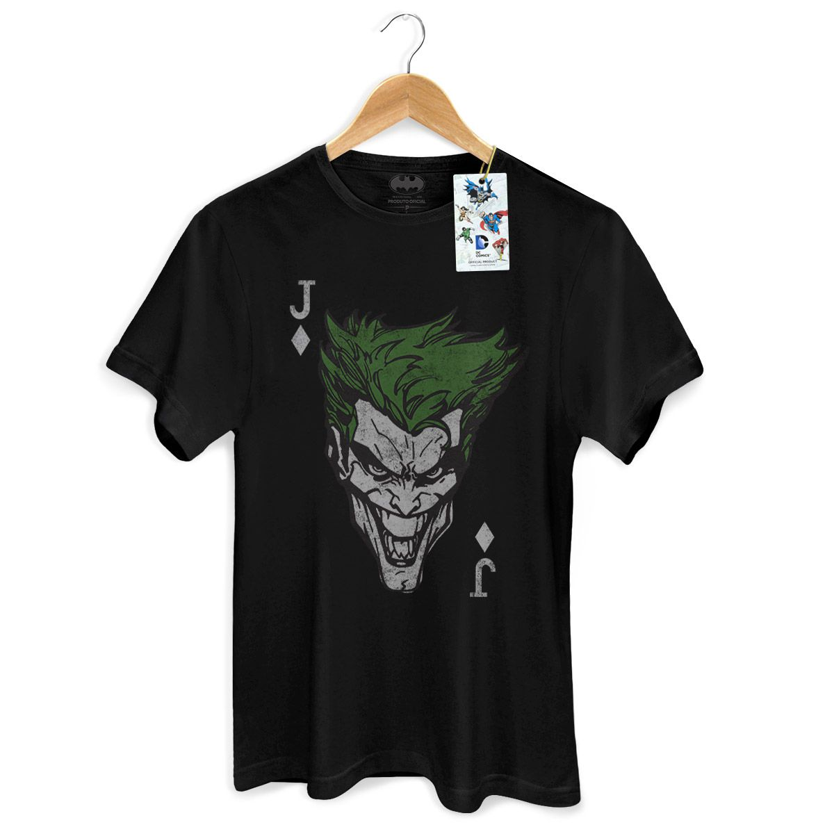 Camiseta Masculina The Joker Card  - bandUP Store Marketplace