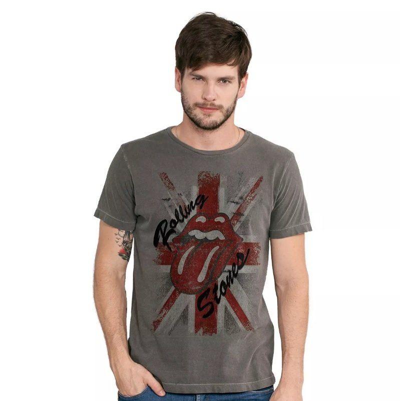Camiseta Masculina The Rolling Stones England Oficial  - bandUP Store Marketplace