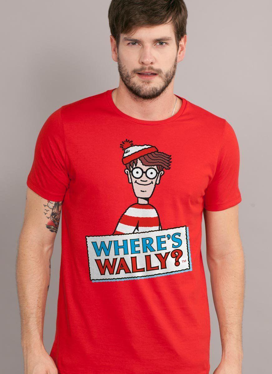 Camiseta Masculina Wally Where