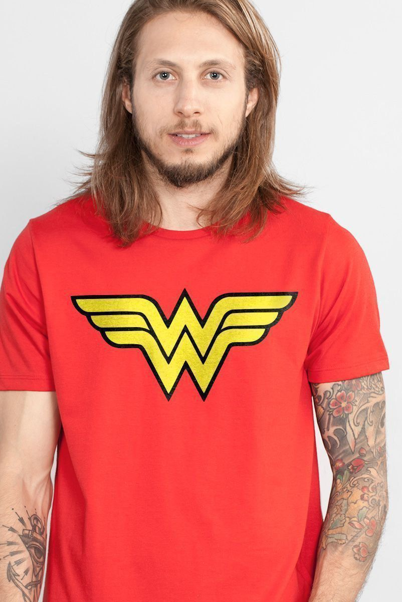 Camiseta Masculina Wonder Woman Logo  - bandUP Store Marketplace