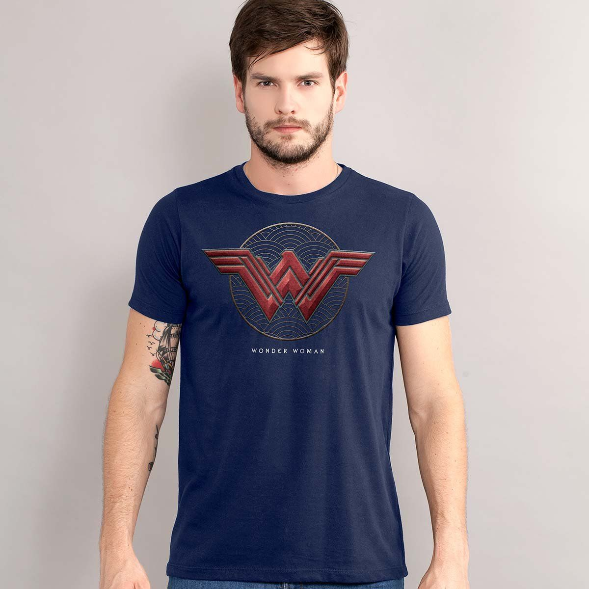 Camiseta Masculina Wonder Woman Logo Authentic  - bandUP Store Marketplace