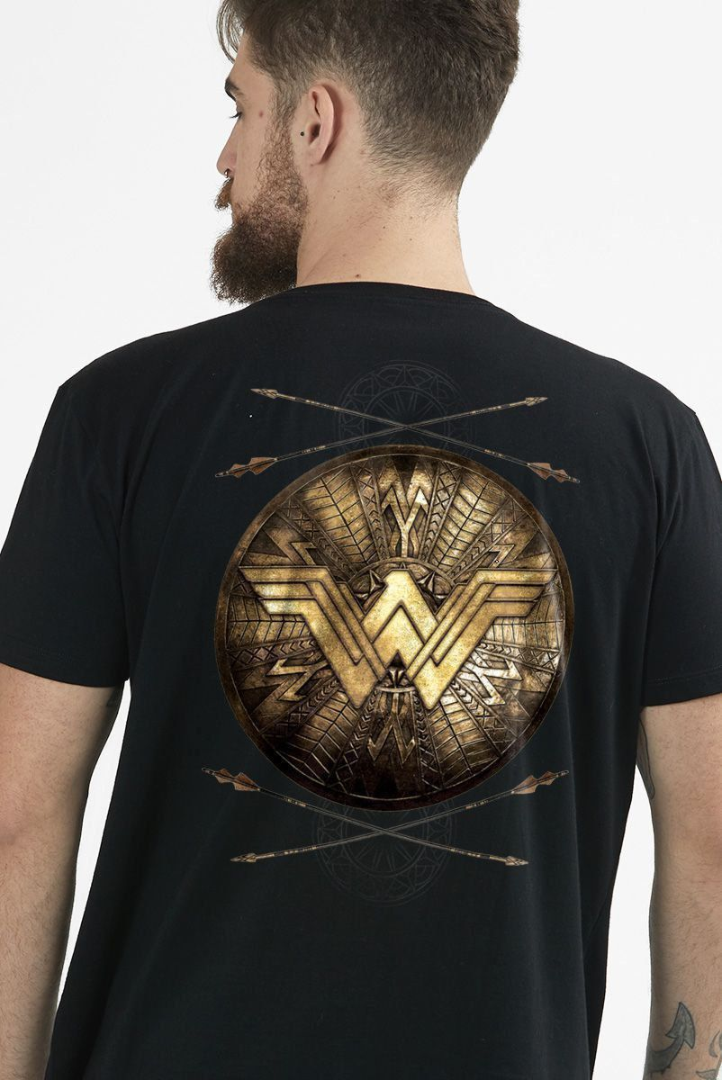 Camiseta Masculina Wonder Woman Shield  - bandUP Store Marketplace