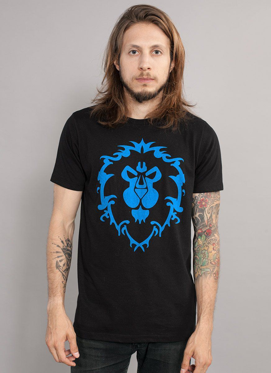 Camiseta Masculina World of Warcraft Aliança Símbolo  - bandUP Store Marketplace