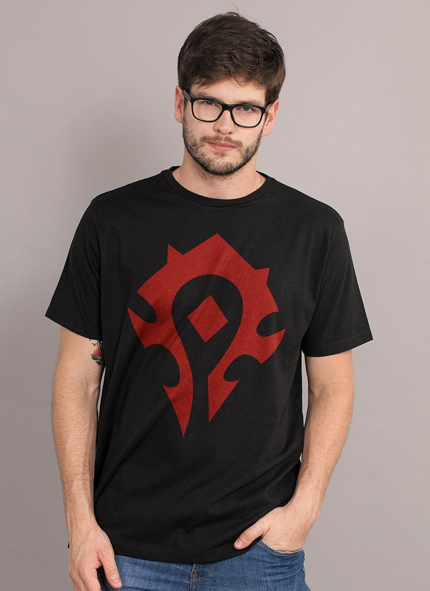 Camiseta Masculina World of Warcraft Horda Símbolo  - bandUP Store Marketplace