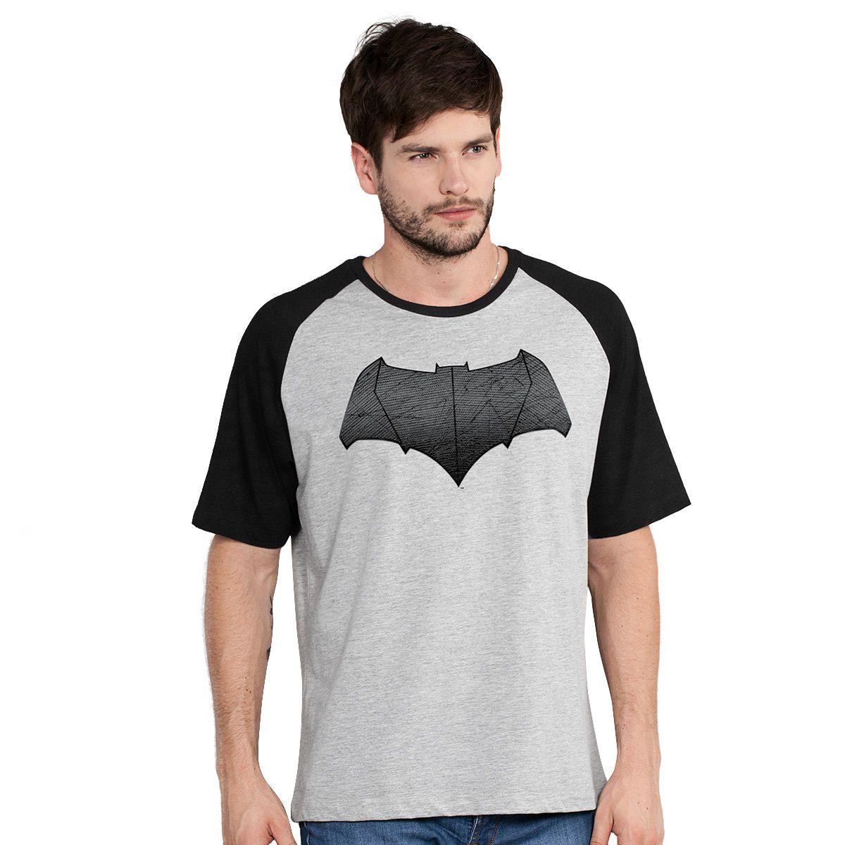Camiseta Raglan Masculina Batman Vs Superman Logo Batman  - bandUP Store Marketplace
