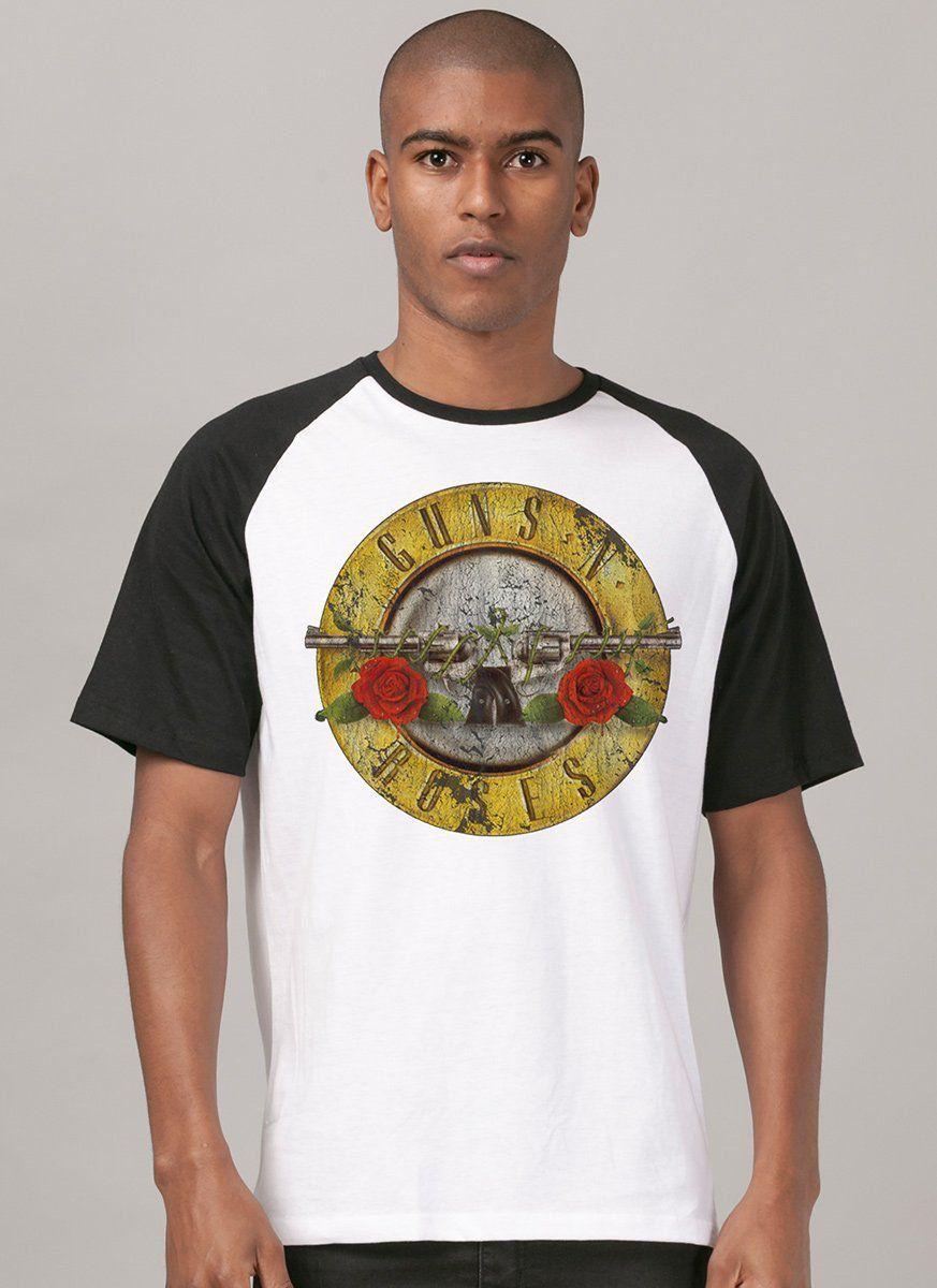 Camiseta Raglan Masculina Guns N