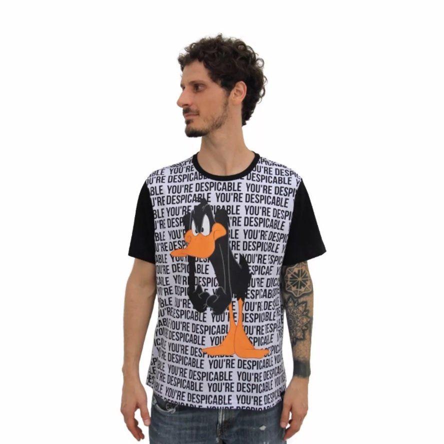 Camiseta Raglan Masculina Looney Tunes Patolino You