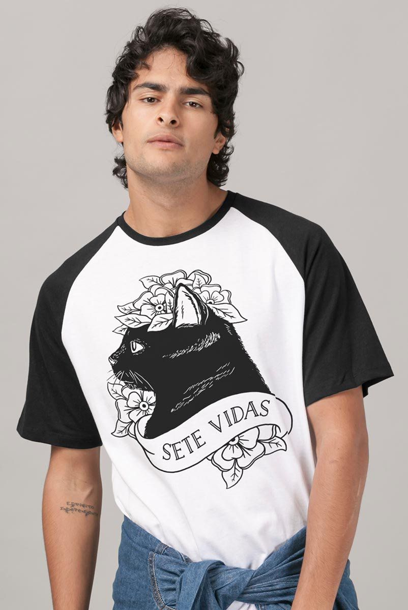 Camiseta Raglan Masculina Pitty Sete Vidas  - bandUP Store Marketplace