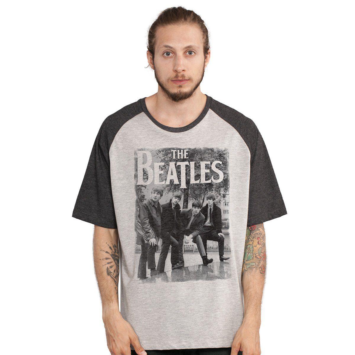 Camiseta Raglan Masculina The Beatles Hey What´s That  - bandUP Store Marketplace