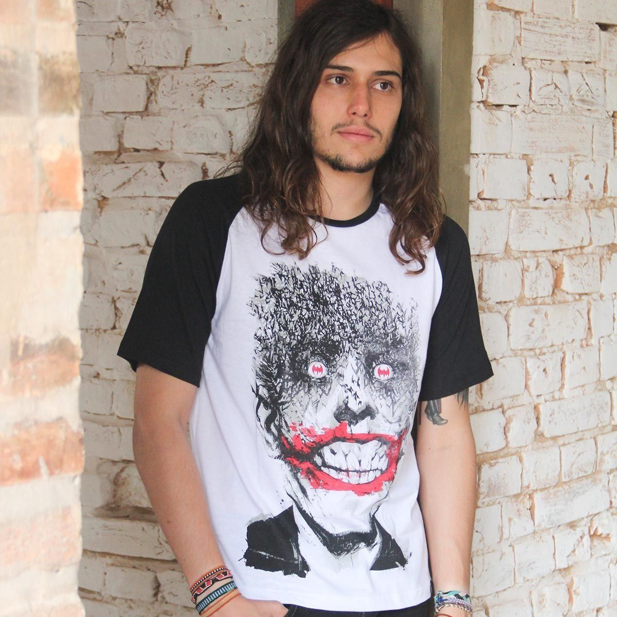 Camiseta Raglan Masculina The Joker Happy Bats Oficial  - bandUP Store Marketplace
