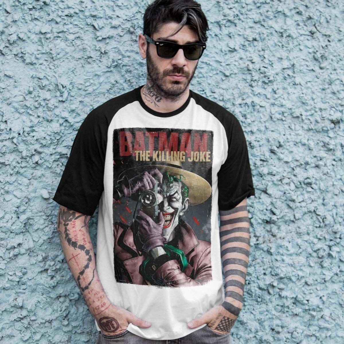 Camiseta Raglan Masculina The Joker Killing Joke Oficial  - bandUP Store Marketplace