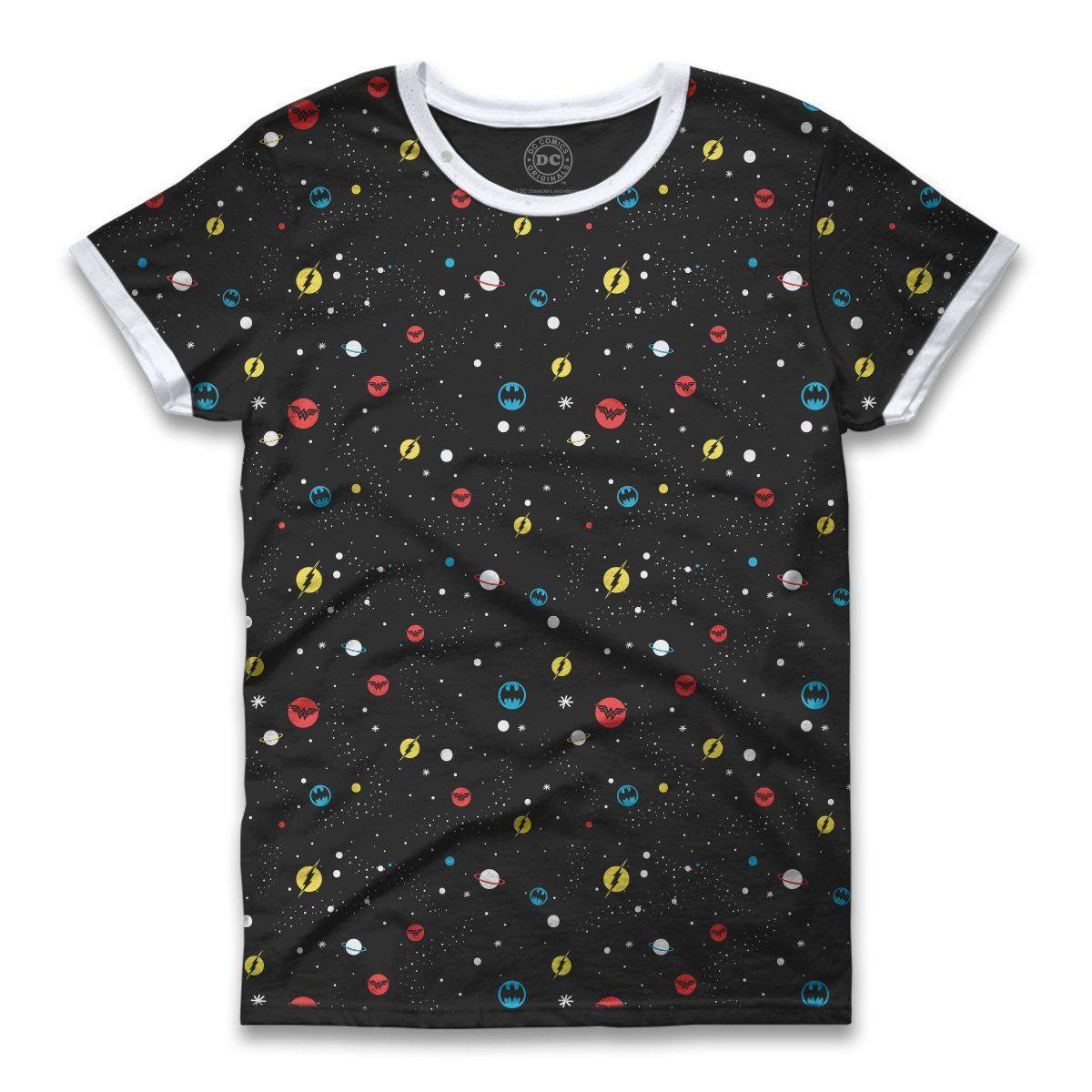 Camiseta Ringer Feminina DC Icons Universe  - bandUP Store Marketplace