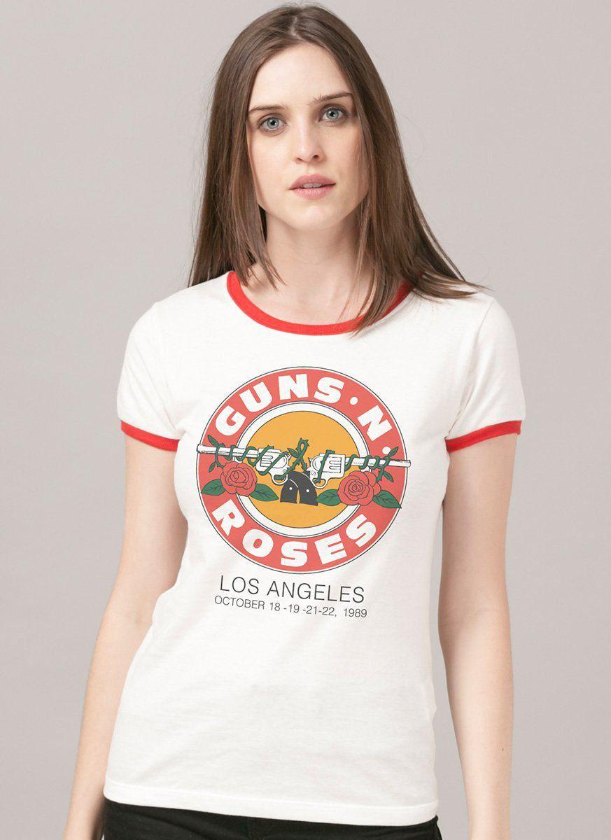 Camiseta Ringer Feminina Guns N