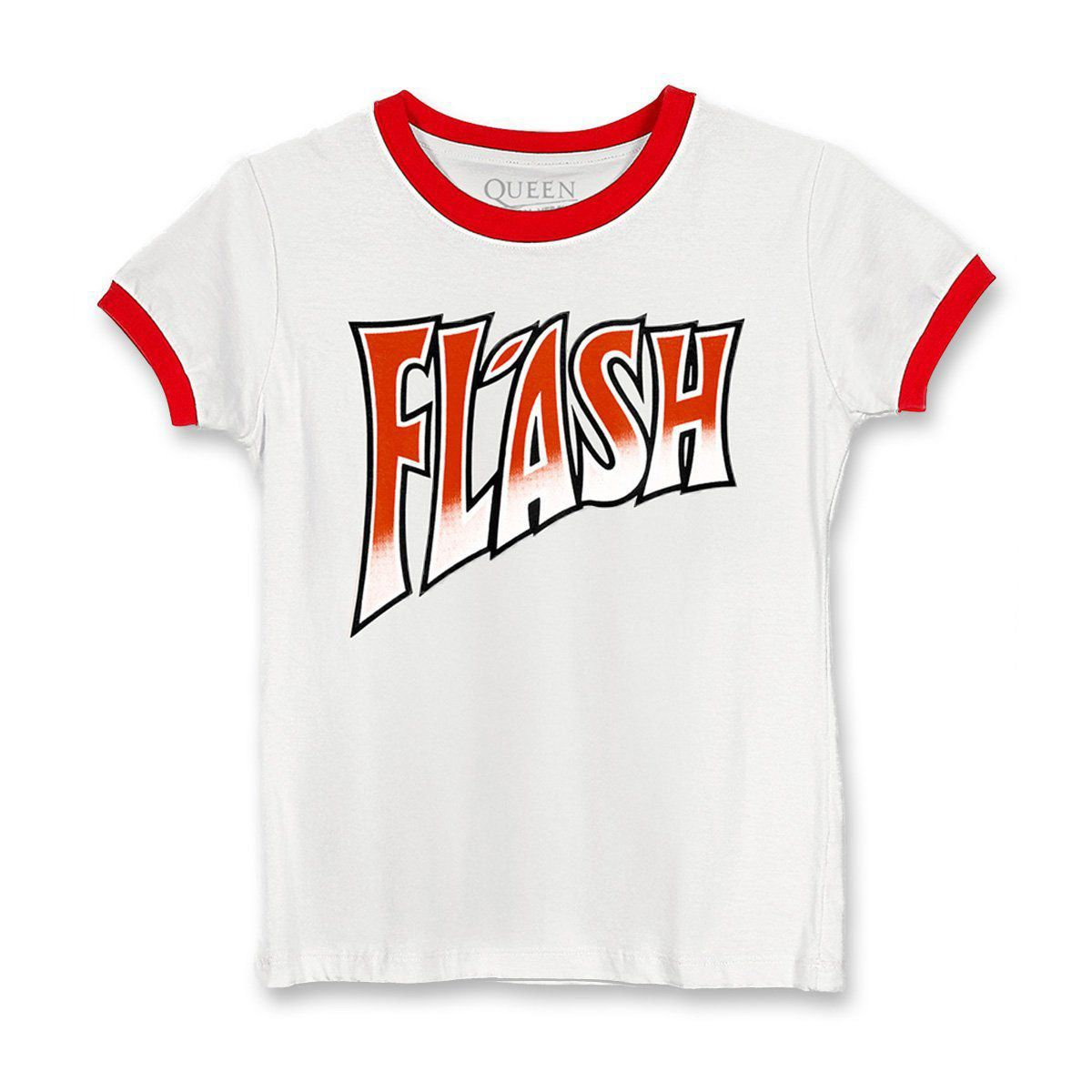 Camiseta Ringer Feminina Queen Flash  - bandUP Store Marketplace