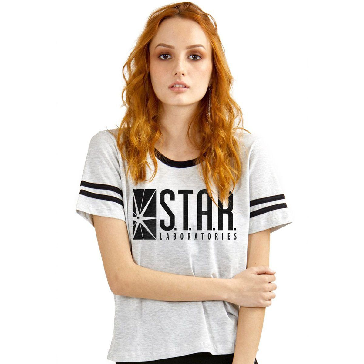 Camiseta The Flash Serie Star Laboratories Athletic Feminina  - bandUP Store Marketplace