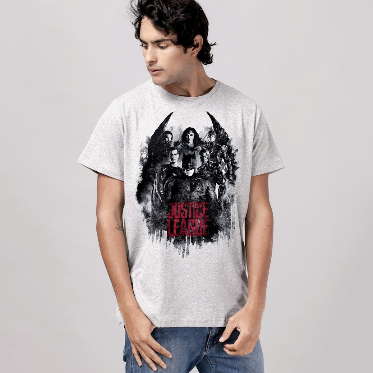 Camiseta Unissex Liga da Justiça Red Heroes Oficial  - bandUP Store Marketplace