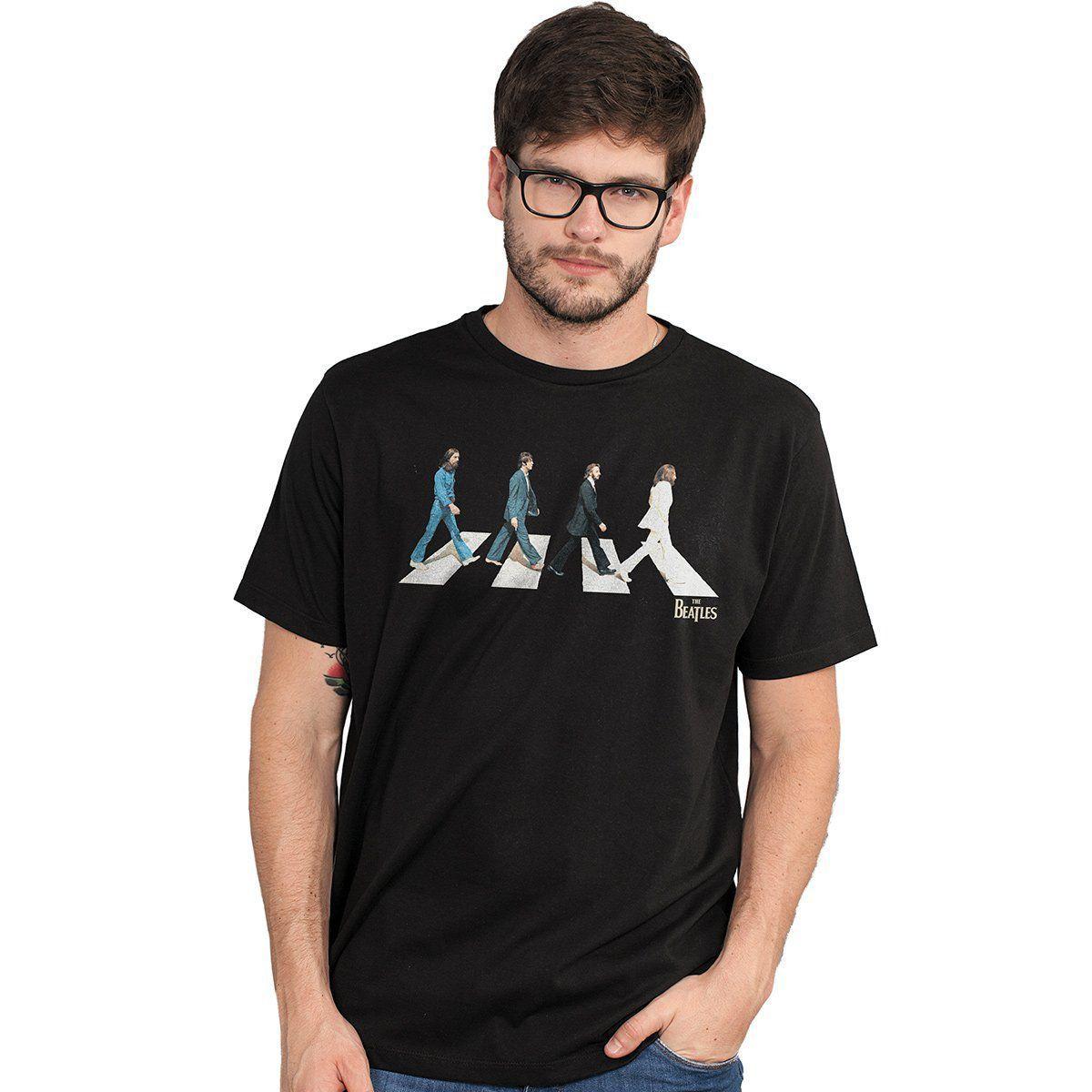 Camiseta Unissex The Beatles Abbey Road  - bandUP Store Marketplace