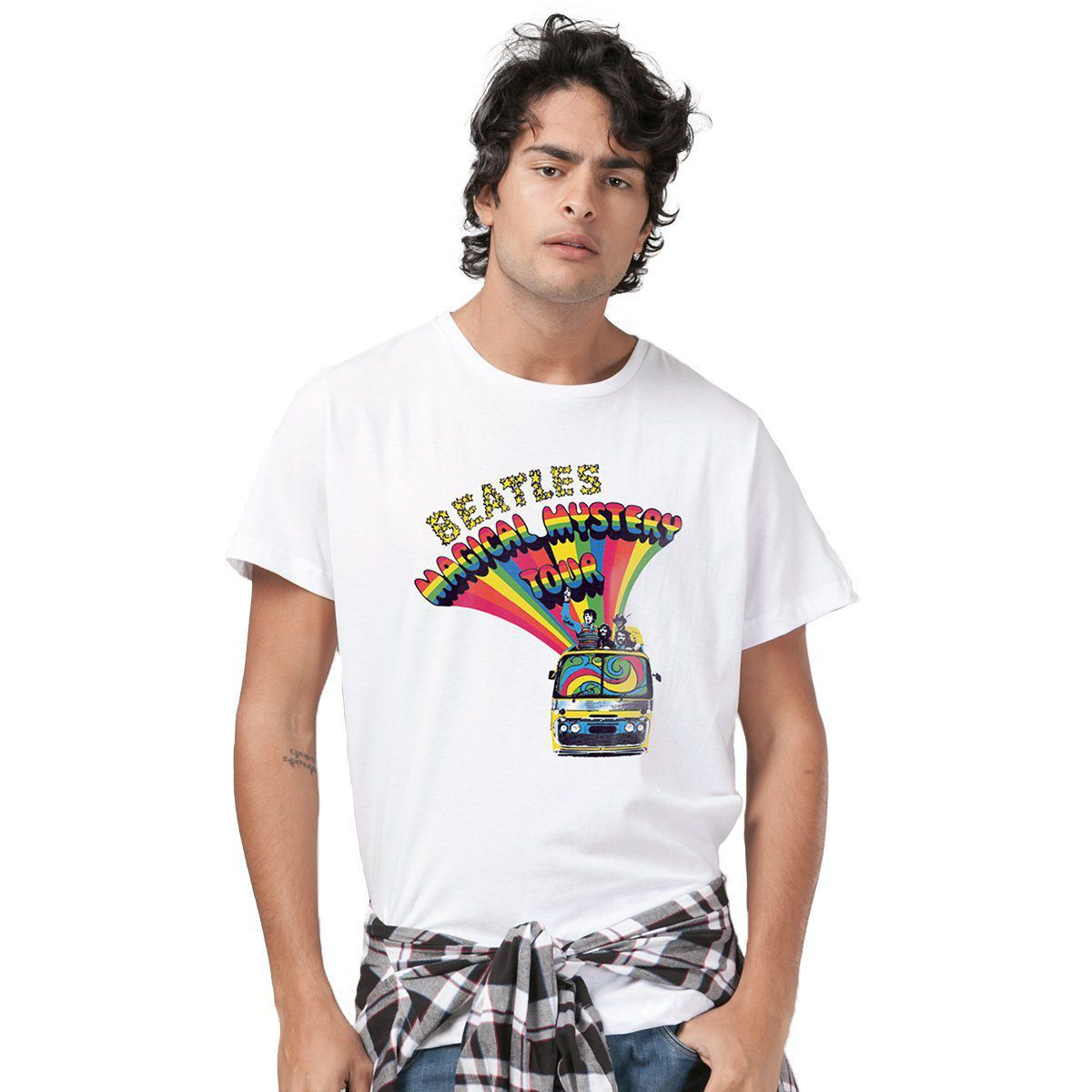 Camiseta Unissex The Beatles Bus Basic  - bandUP Store Marketplace