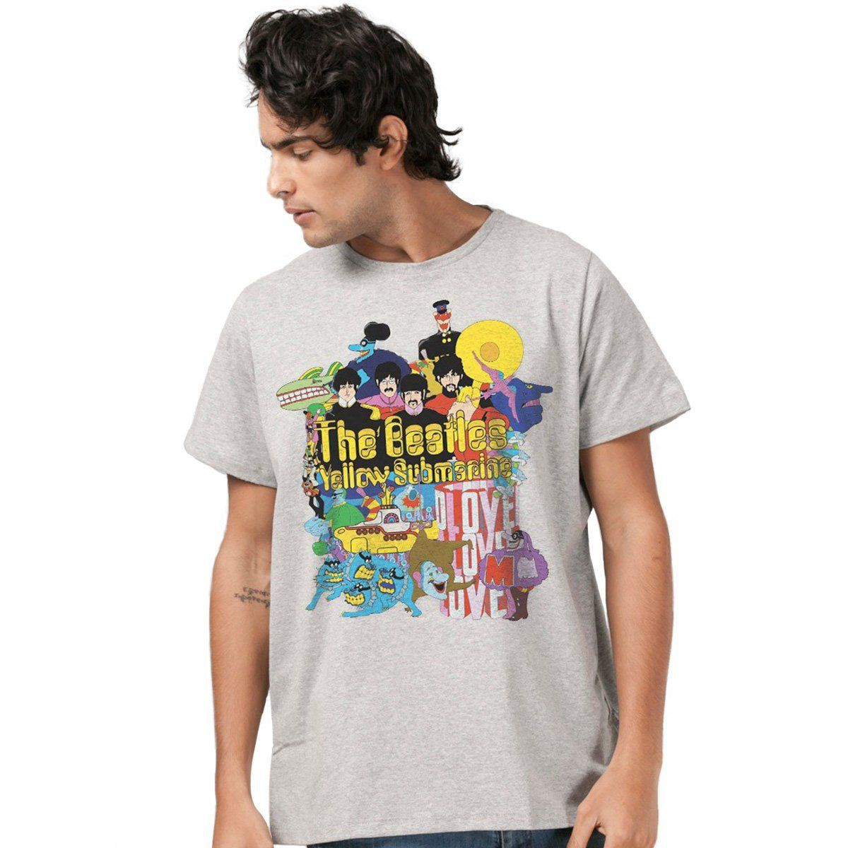 Camiseta Unissex The Beatles Yellow Submarine  - bandUP Store Marketplace