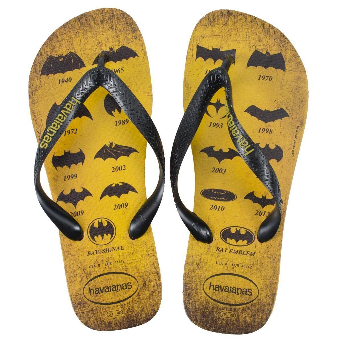 Chinelo Batman 75 Anos Logos Collection  - bandUP Store Marketplace