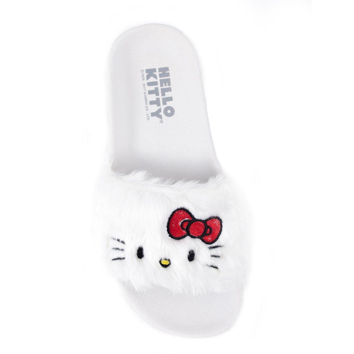 Chinelo Slide Hello Kitty White  - bandUP Store Marketplace