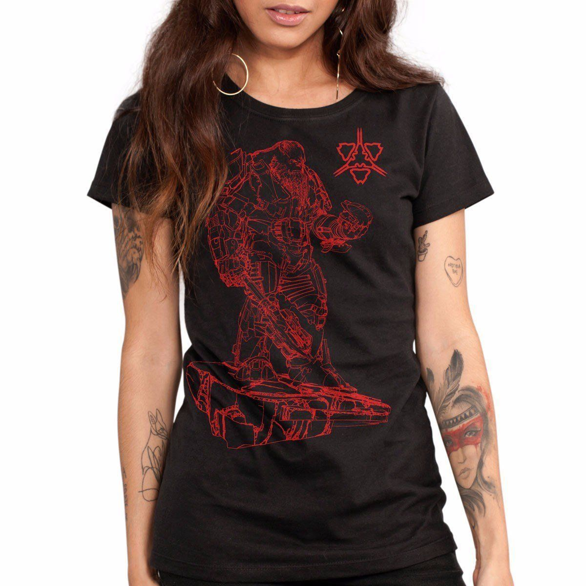 Combo Feminino Camiseta Halo War 2 Oficial  - bandUP Store Marketplace