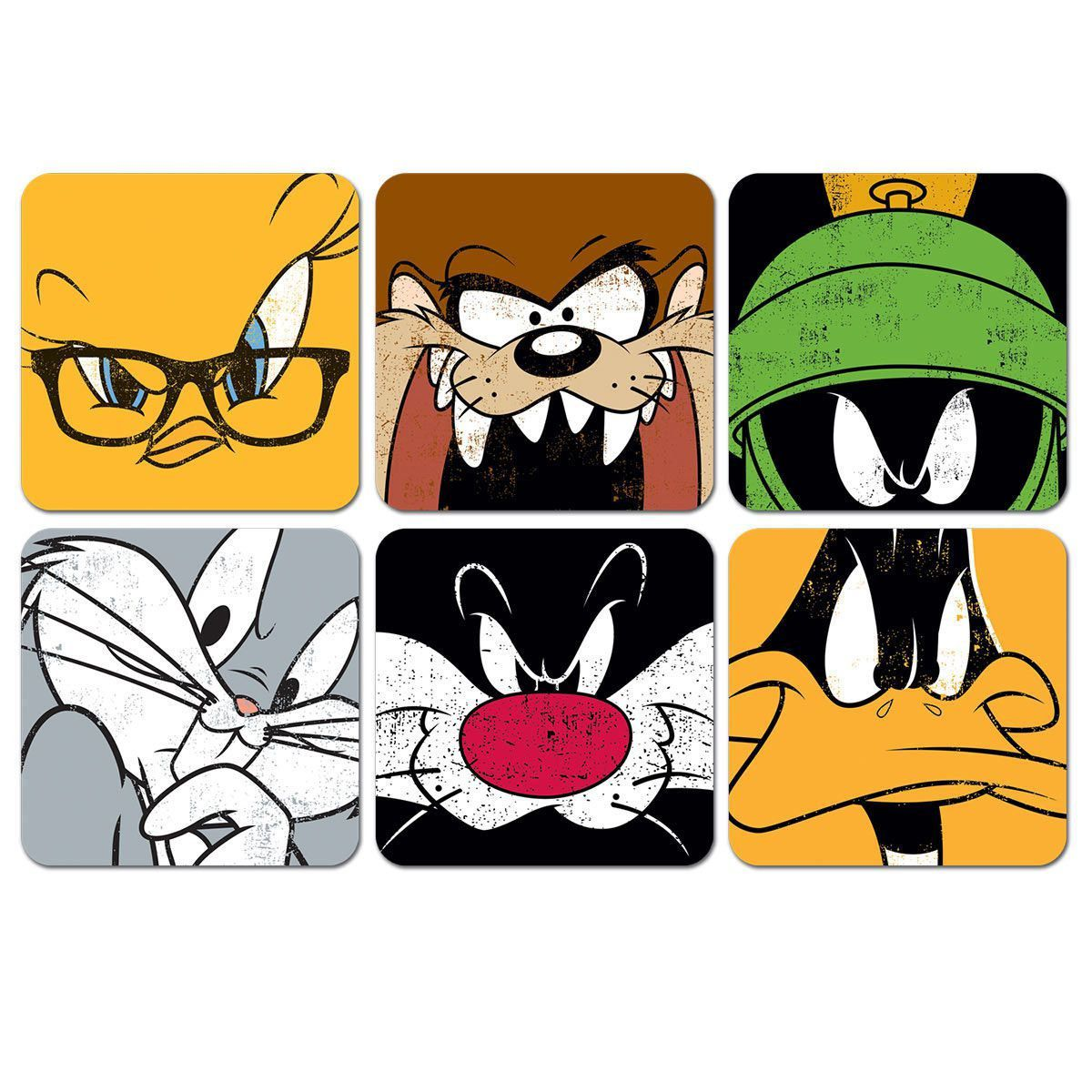 Conjunto com 6 Porta Copos Looney Tunes Personagens  - bandUP Store Marketplace