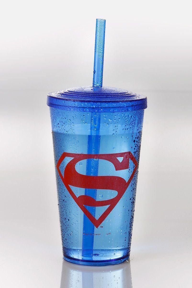 Copo Acrílico Azul Superman Logo  - bandUP Store Marketplace