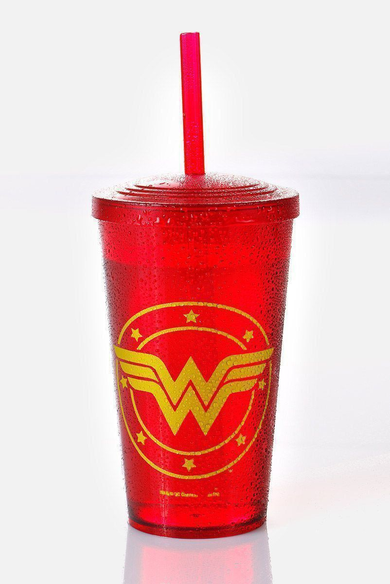 Copo Acrílico Vermelho Wonder Woman Logo  - bandUP Store Marketplace