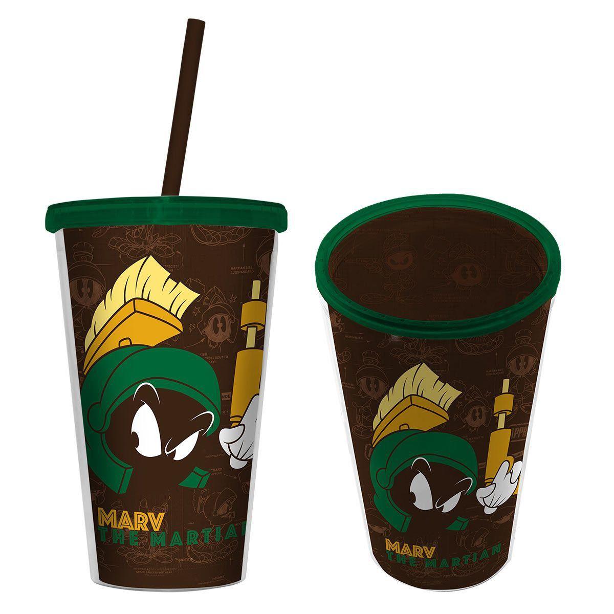 Copo com Tampa e Canuco Looney Tunes Marvin, O Marciano  - bandUP Store Marketplace