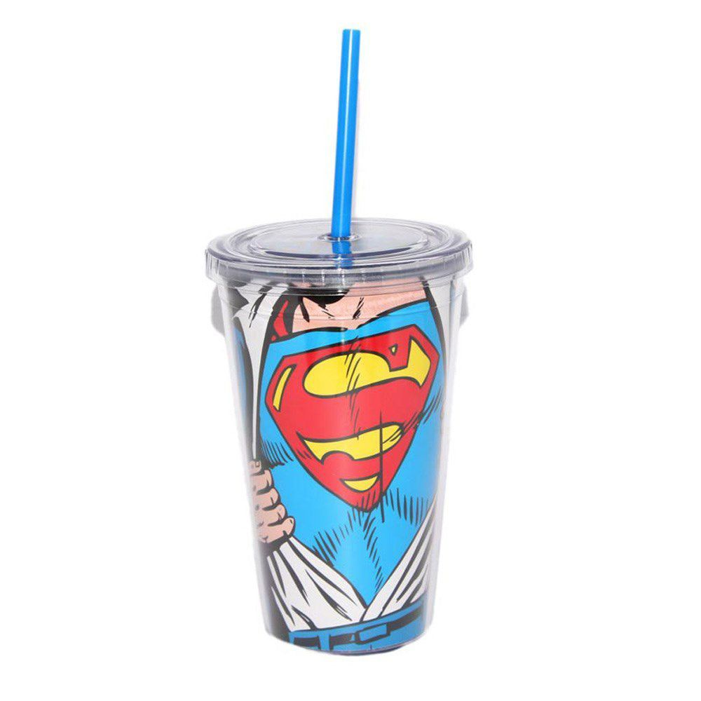 Copo Com Tampa e Canudo Superman Opening  - bandUP Store Marketplace