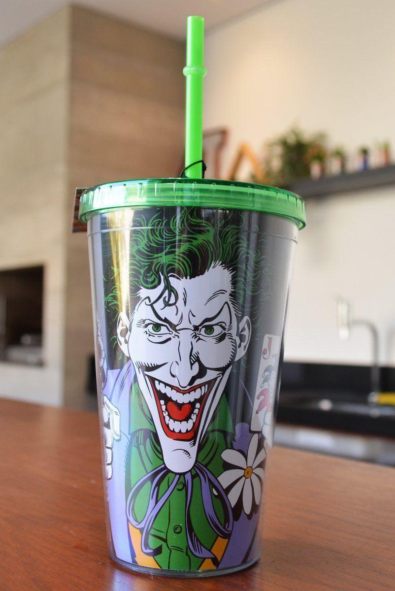 Copo com Tampa e Canudo The Joker Gun  - bandUP Store Marketplace