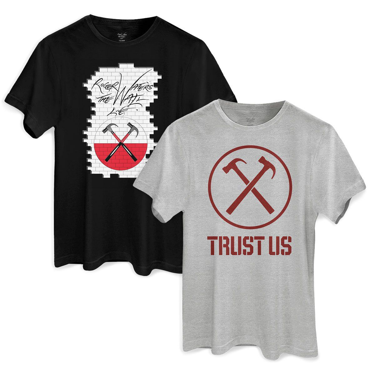 Kit Show 2 Camisetas Roger Waters The Wall e Trust Us Masculino  - bandUP Store Marketplace