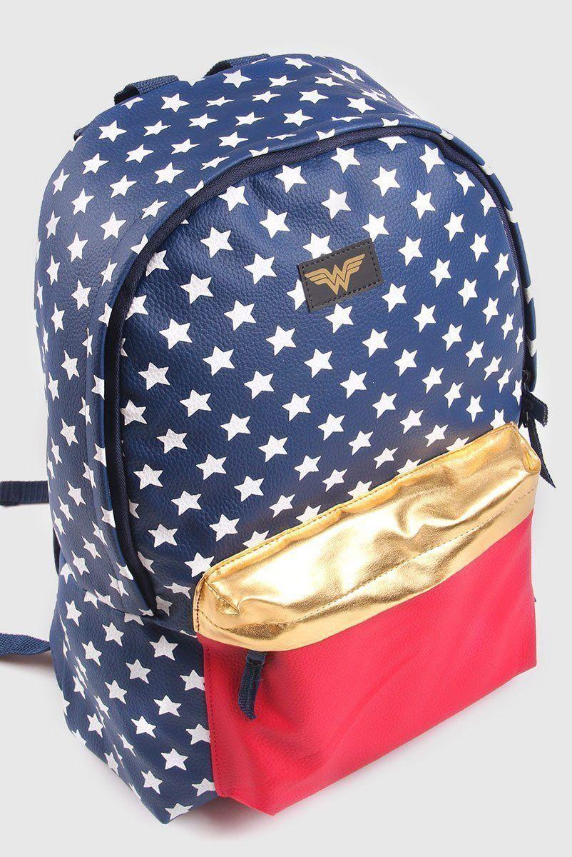 Mochila Mulher Maravilha Leather Star Oficial  - bandUP Store Marketplace