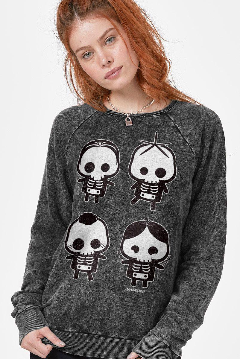 Moletinho Marmorizado Turma da Mônica Skull  - bandUP Store Marketplace