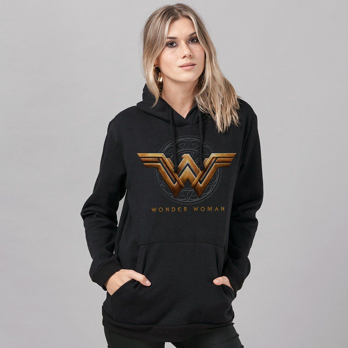 Moletom Wonder Woman Movie Logo  - bandUP Store Marketplace