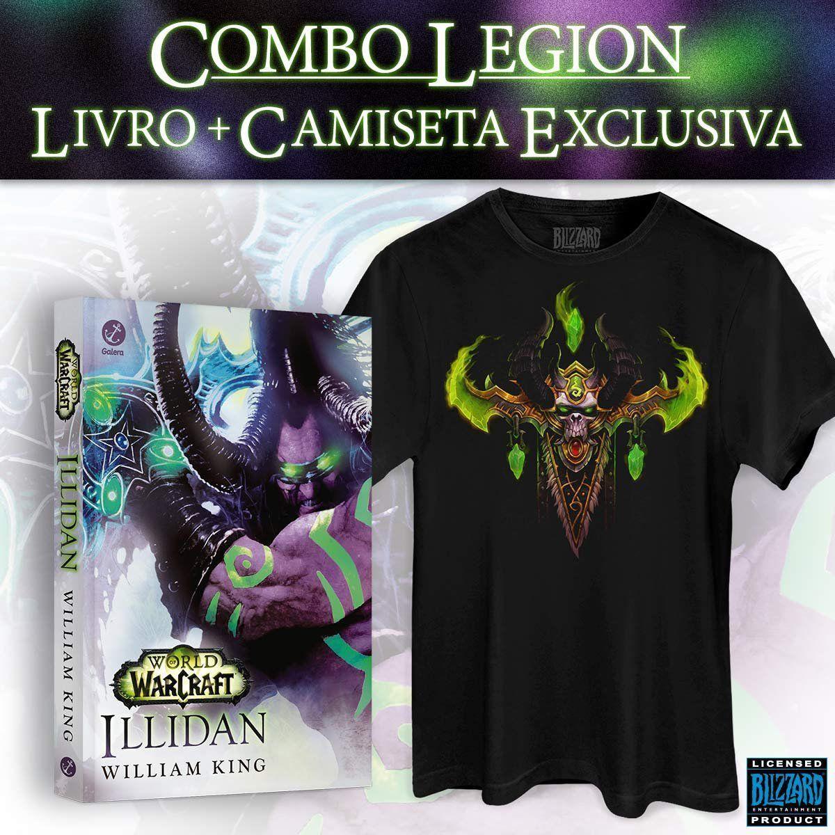 Pré-Venda Combo Camiseta + Livro World of Warcraft: Illidan  - bandUP Store Marketplace