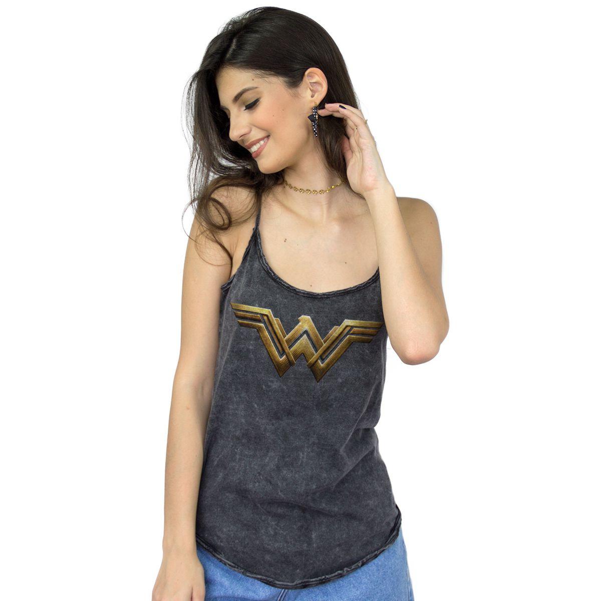 Regatinha Feminina Wonder Woman Logo Strenght  - bandUP Store Marketplace