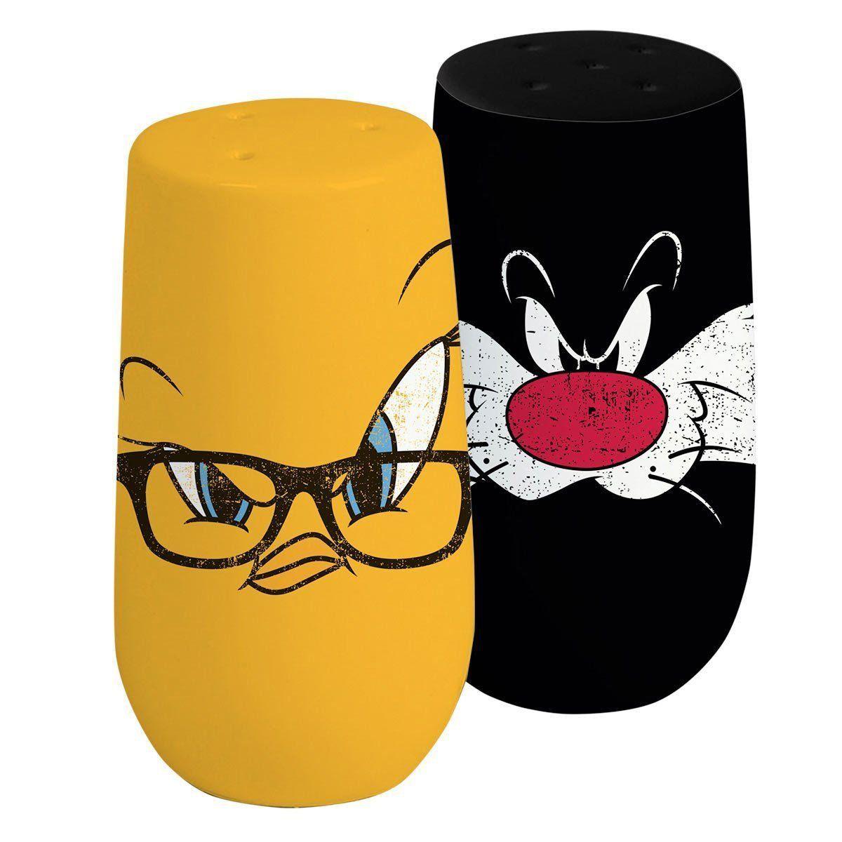 Saleiro e Pimenteiro Looney Tunes Frajola e Piu-Piu Oficial  - bandUP Store Marketplace