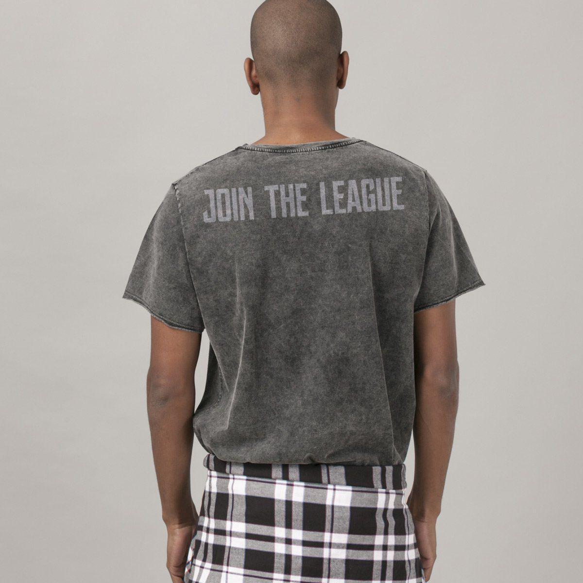 T-shirt Marmorizada Liga da Justiça Symbols  - bandUP Store Marketplace