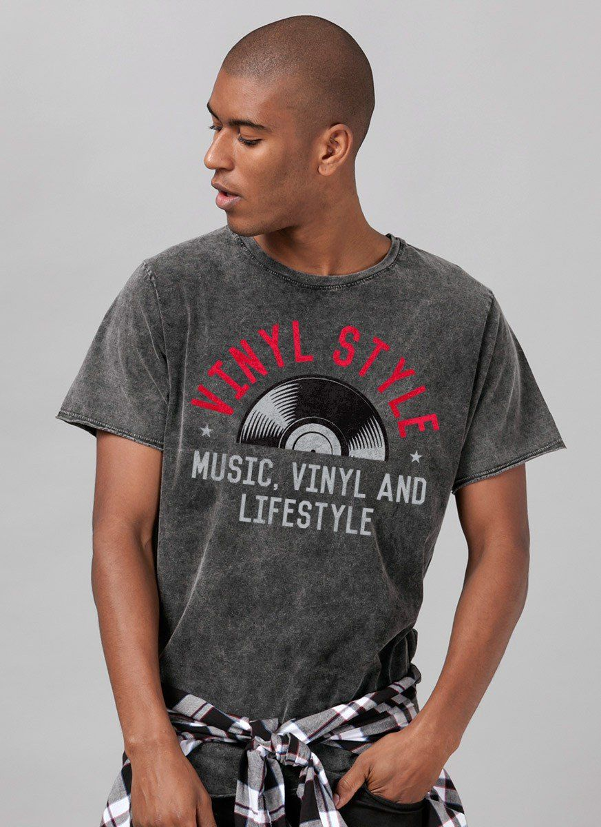 T-shirt Marmorizada Vinyl Style Old School  - bandUP Store Marketplace