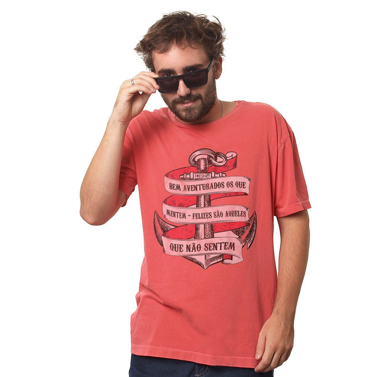 T-shirt Premium Masculina Fresno Bem Aventurados os Que Mentem  - bandUP Store Marketplace