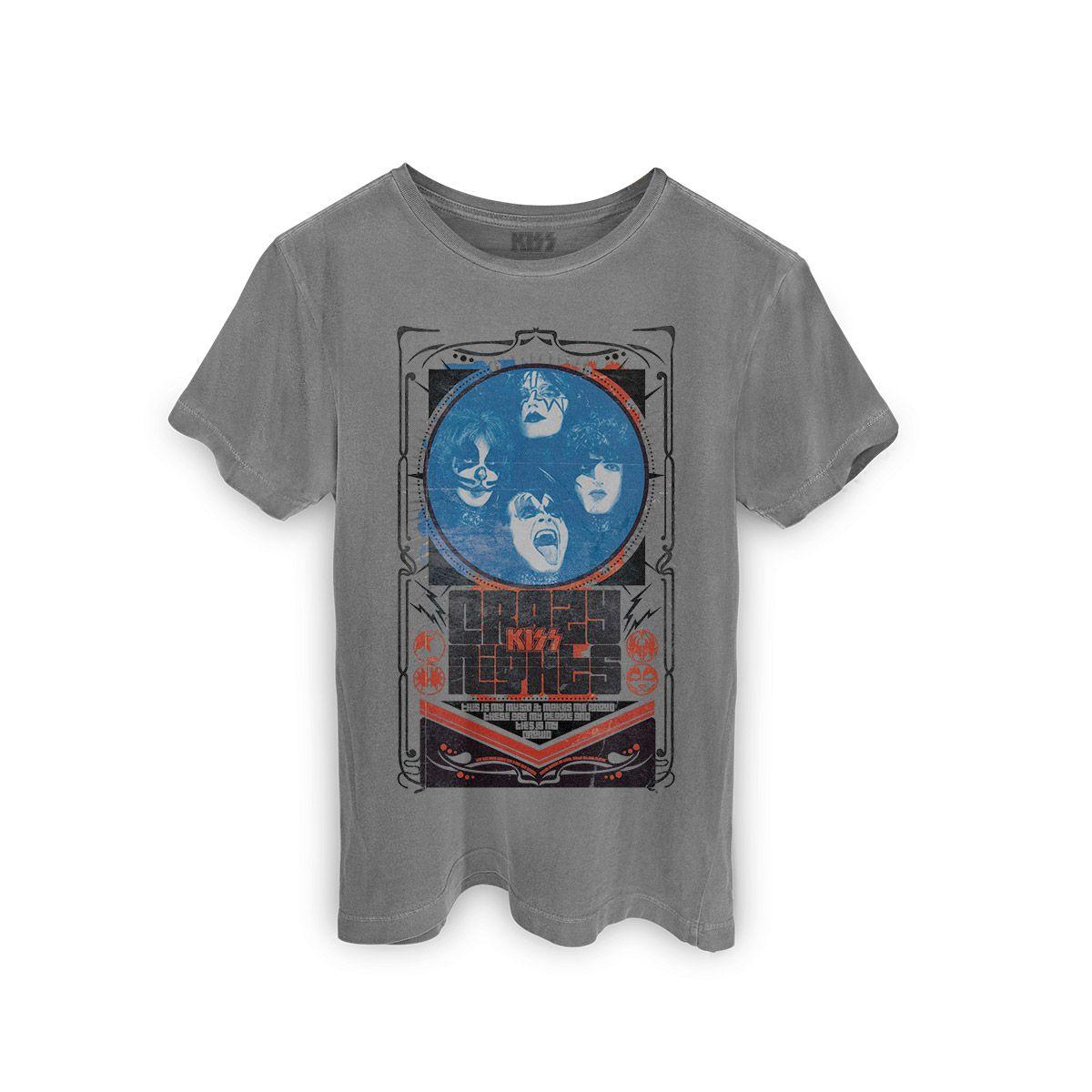T-shirt Premium Masculina Kiss Crazy Nights  - bandUP Store Marketplace