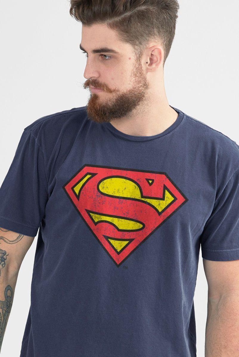 T-shirt Premium Masculina Superman Logo Oficial  - bandUP Store Marketplace
