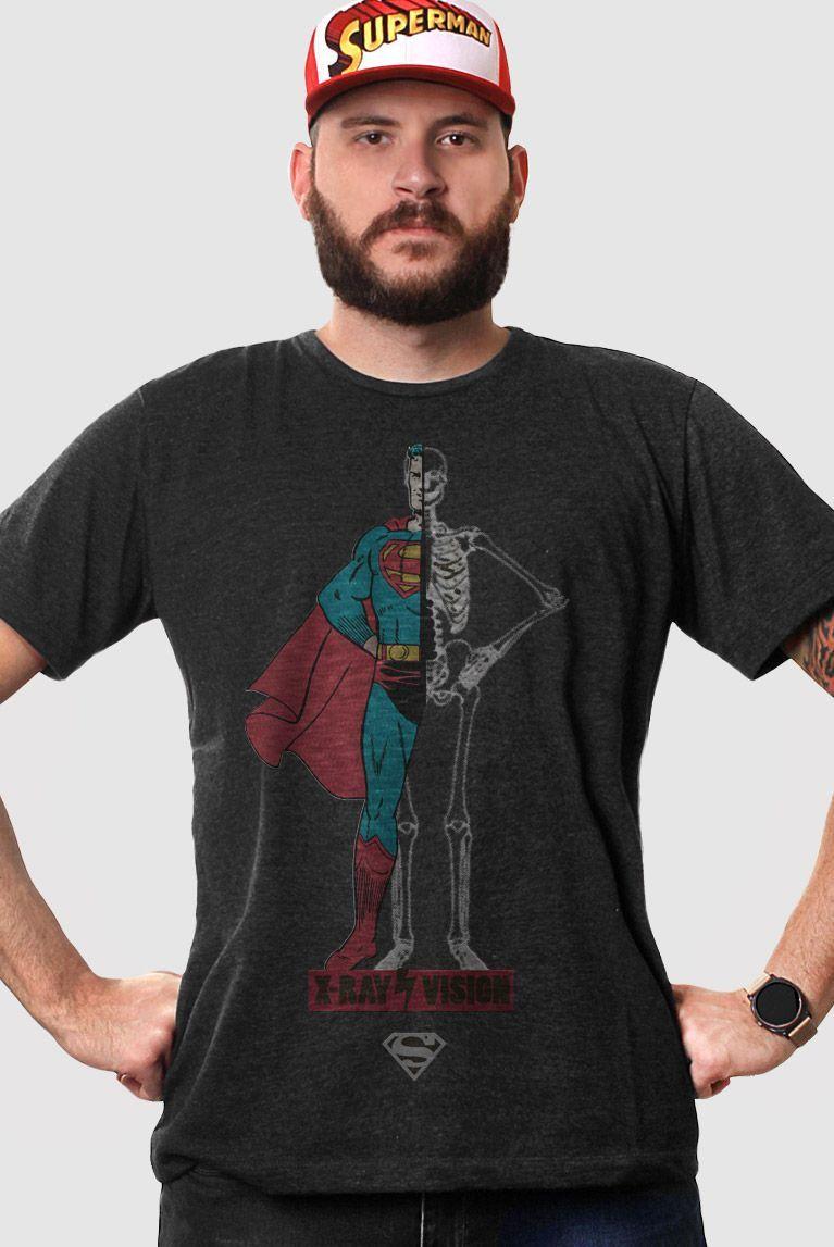 T-shirt Premium Masculina Superman X-Ray Vision Body  - bandUP Store Marketplace