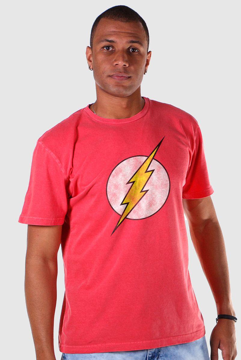 T-shirt Premium Masculina The Flash Logo  - bandUP Store Marketplace