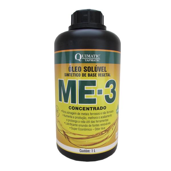 Me-3 Concentrado - Embalagem 1 Litro - Óleo Solúvel Sintético De Base Vegetal Para Usinagem De Metais Ferrosos E Não Ferrosos - QUIMATIC/TAPMATIC