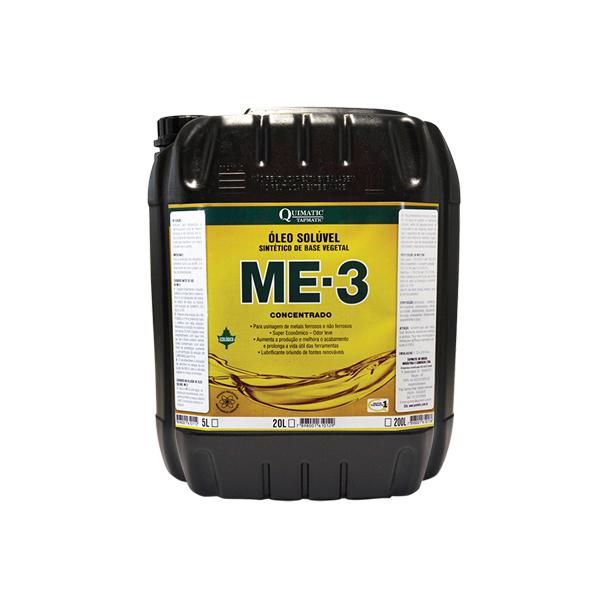 Me-3 Concentrado - Embalagem 20 Litros - Óleo Solúvel Sintético De Base Vegetal Para Usinagem De Metais Ferrosos E Não Ferrosos - QUIMATIC/TAPMATIC