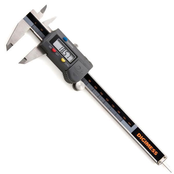 """Paquímetro Digital Com Nível De Proteção IP54 - Resolução De 0,01mm/.0005"""" - Cap. 200mm/8"""" - DIGIMESS"""